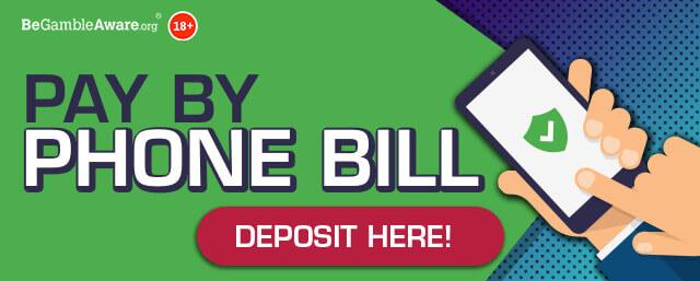 PocketWin Online Casino - Pay By Phone Bill - Deposit Here! Banner - desktop vers.
