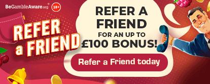 PocketWin Casino Refer a Friend Bonus - For an up to £100 bonus! - Refer a friend today