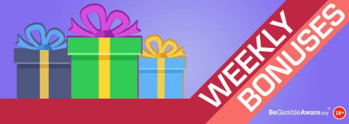 PocketWin Online Casino - Weekly Bonuses