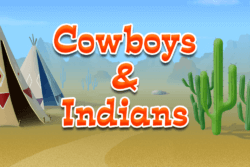 Cowboys and Indians online slots by PocketWin mobile casino