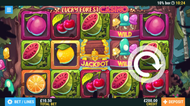 Lucky Forest Casino online slots at PocketWin mobile casino - in game image