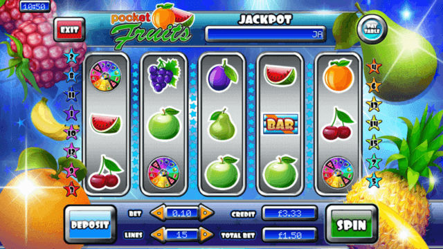 Pocket Fruits online slots by PocketWin online casino - in game image