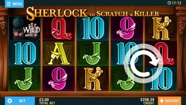 Sherlock to Scratch a Killer Online Slots at PocketWin Online Casino - in game image