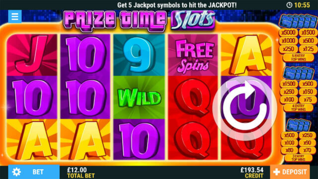 Prize Time Slots Online Slots at PocketWin Online Casino - In game image