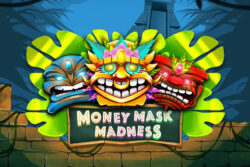 Monay Mask Madness Online Slots at PocketWin Online Casino - game grid image