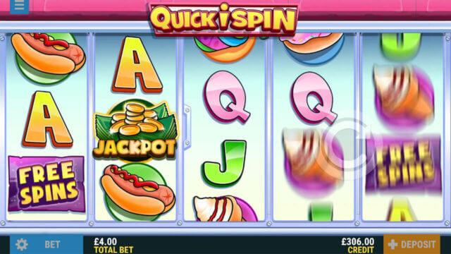 Quickispin mobile slots at Pocketwin Online Casino - Game Play Image