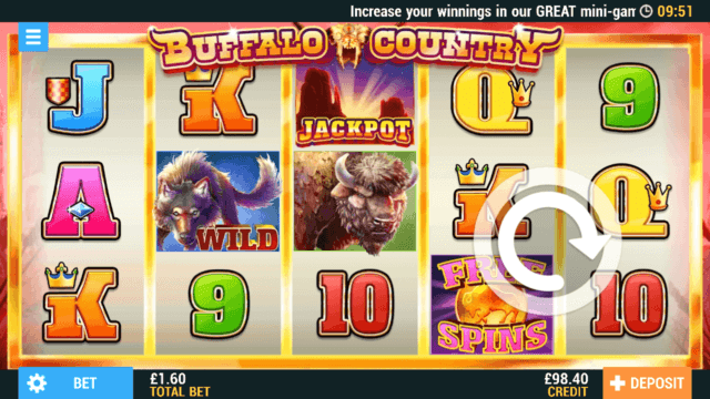 Buffalo Country Mobile Slots at PocketWin Online Casino