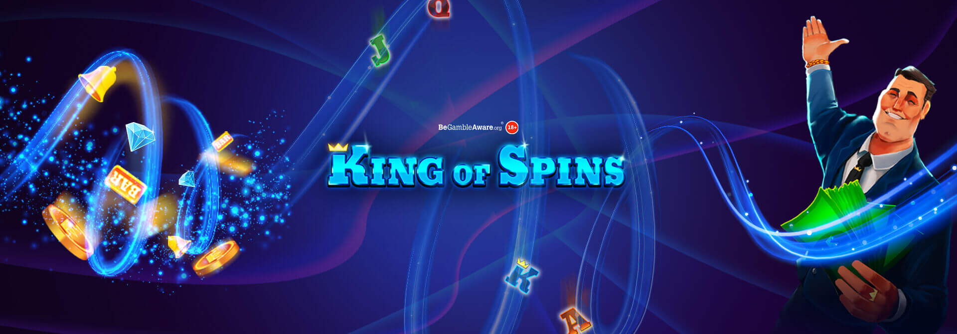 Take the stage with King of Spins on PocketWin