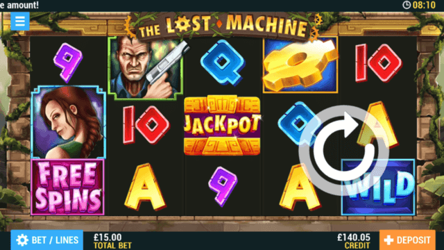 Playing The Lost Machine online slots at PocketWin online casino