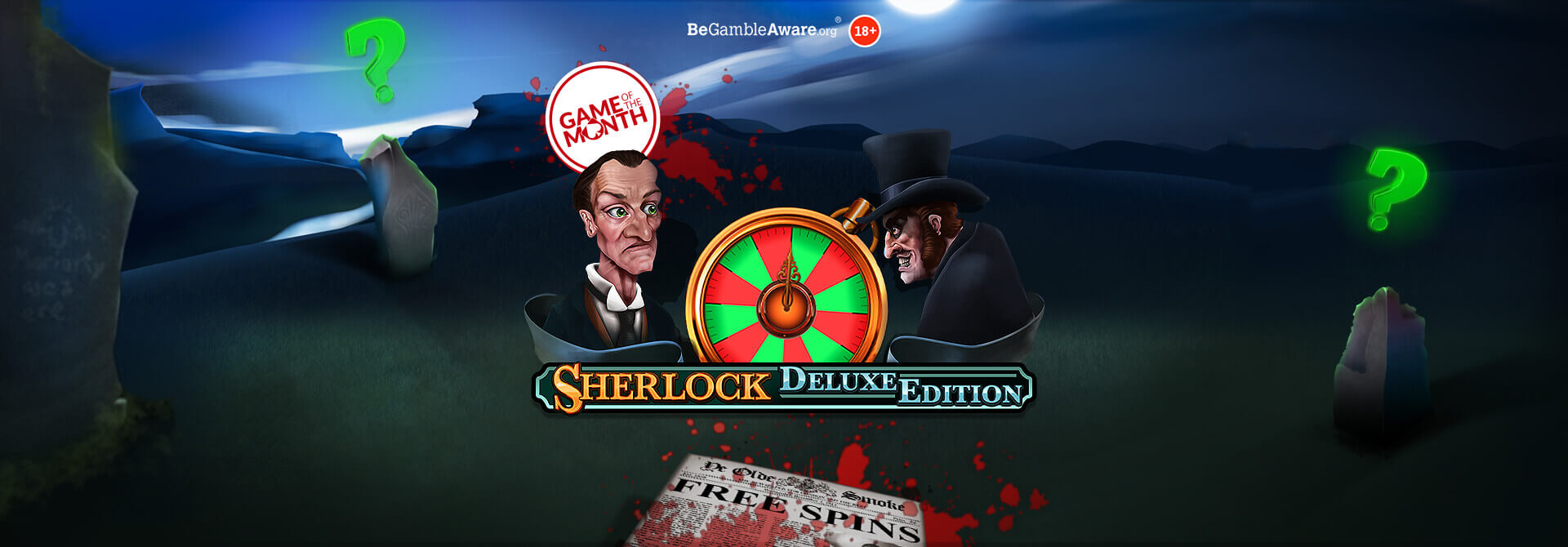 Uncover some mysterious wins in Sherlock Deluxe online slots!