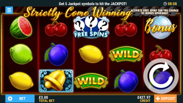 Strictly Come Winning online slots at PocketWin Casino - in-game screenshot