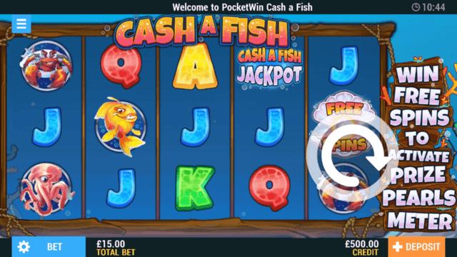 Cash a Fish online slots in-game screenshot