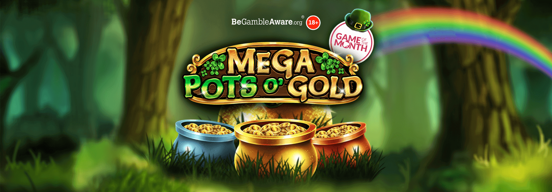 Prepare for a golden adventure in Mega Pots O' Gold online slots!