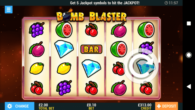 Bomb Blaster online slots in game screenshot