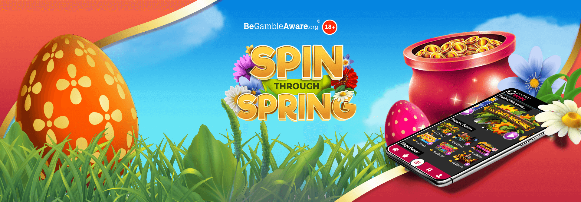 Find out who sprung a win on PocketWin's Spin Through Spring campaign