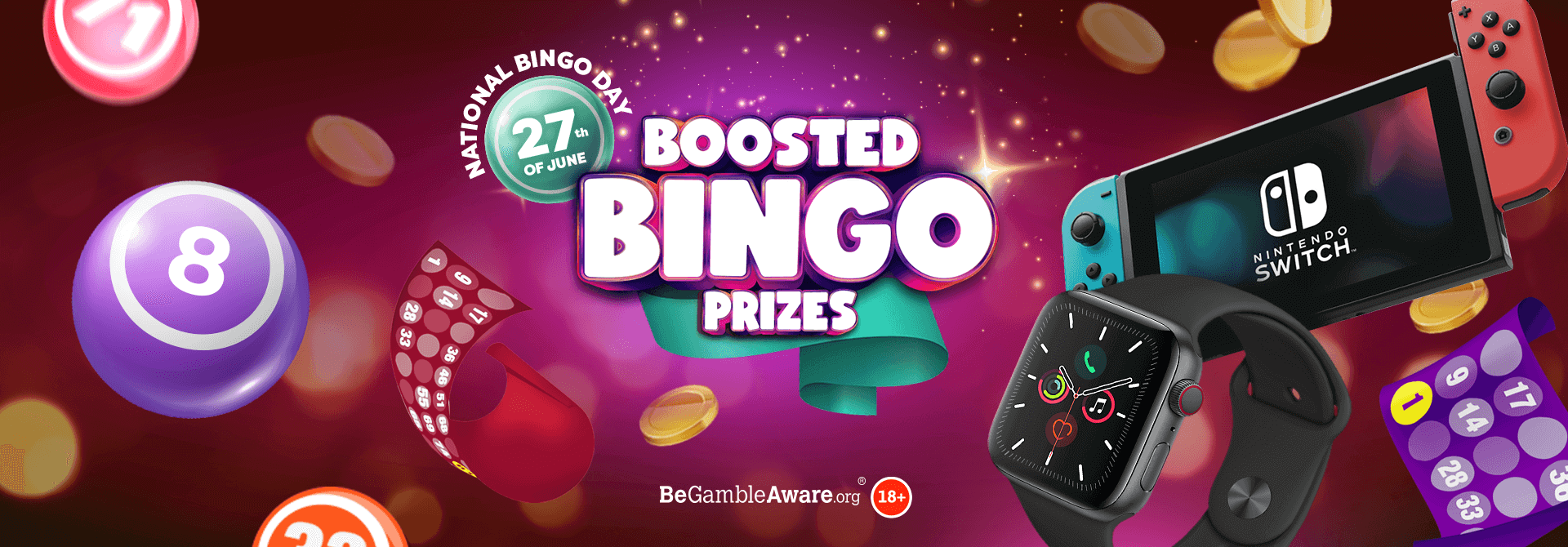 Eyes down for our incredible Boosted Bingo Prizes giveaway!