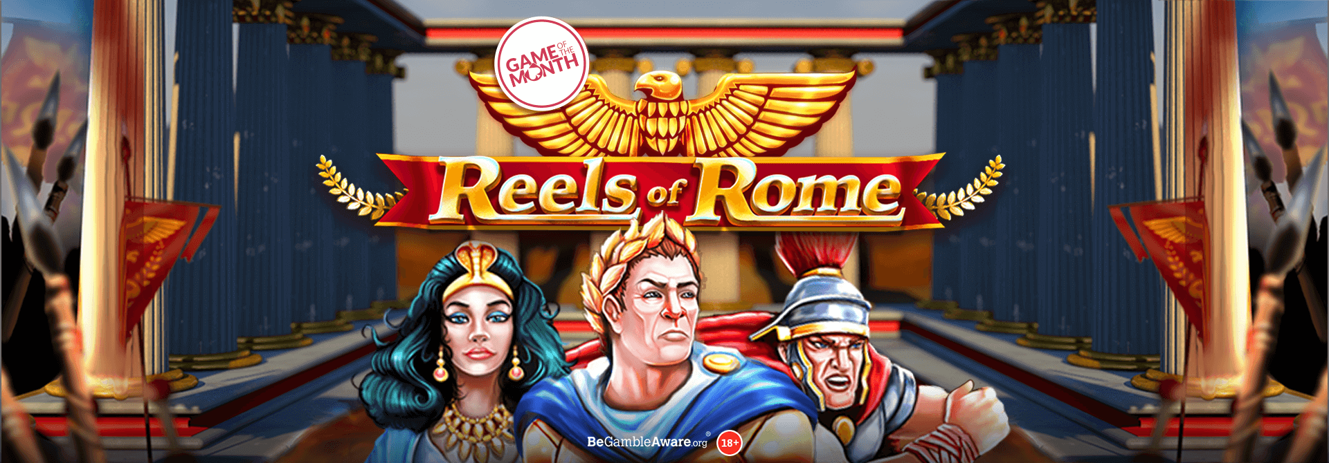 Will you be the Emperor or Empress of the Reels of Rome online slots?