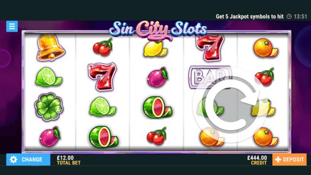 Sin City Slots online slots in game fruit machine theme - PocketWin online casino