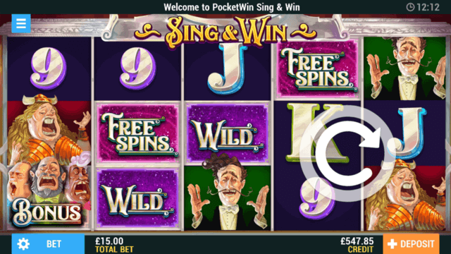 in game screenshot of Reel of Rome online slots by PocketWin Mobile Casino